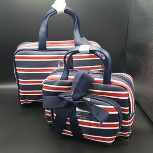 NWT-3 Pc-Tommy Hilfiger-Travel/Cosmetic Bags
